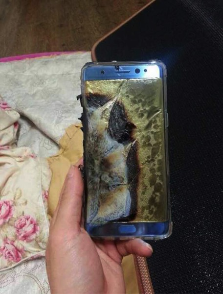 Galaxy 7 note fire