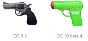 Ios 9 10 emojipedia pistol