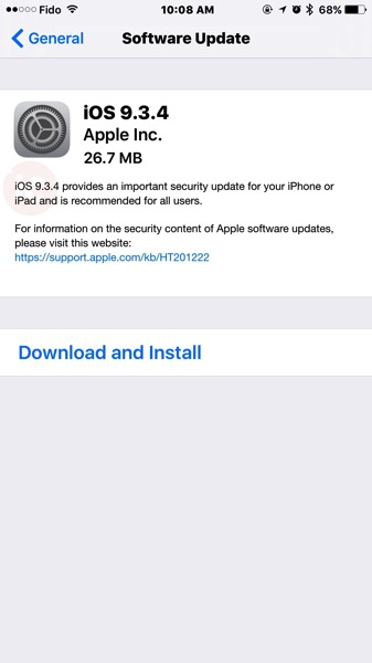 iOS 9 3 4 Download Released with