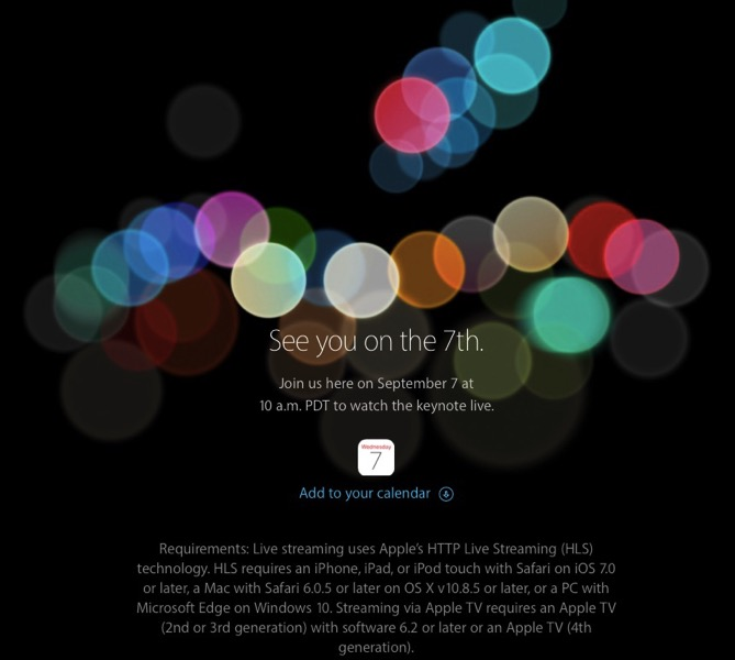 Iphone 7 event live stream