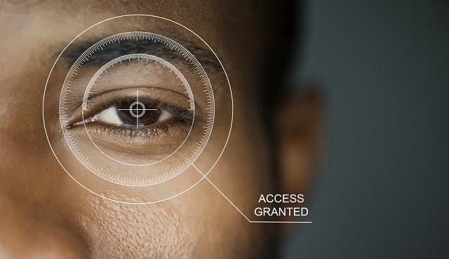 Iris scanner unlock