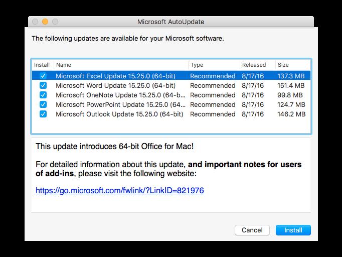 Mac office 64 bit
