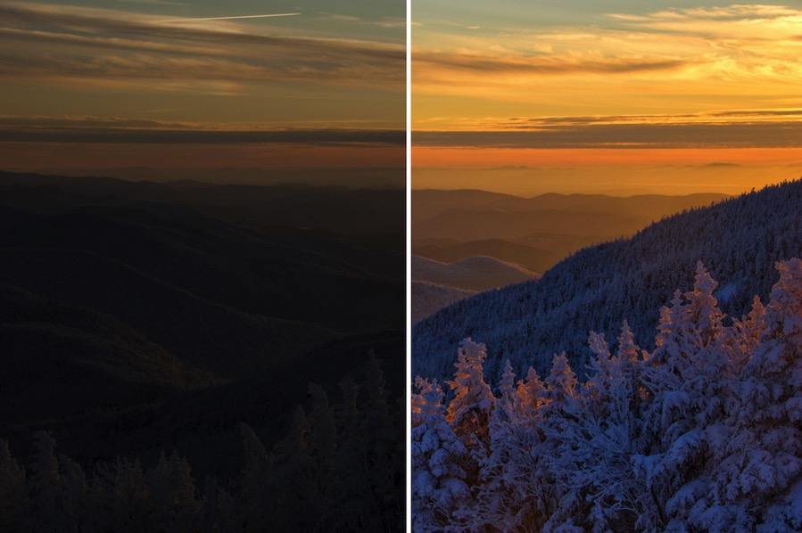 Winter sunset making use of dynamic range 2