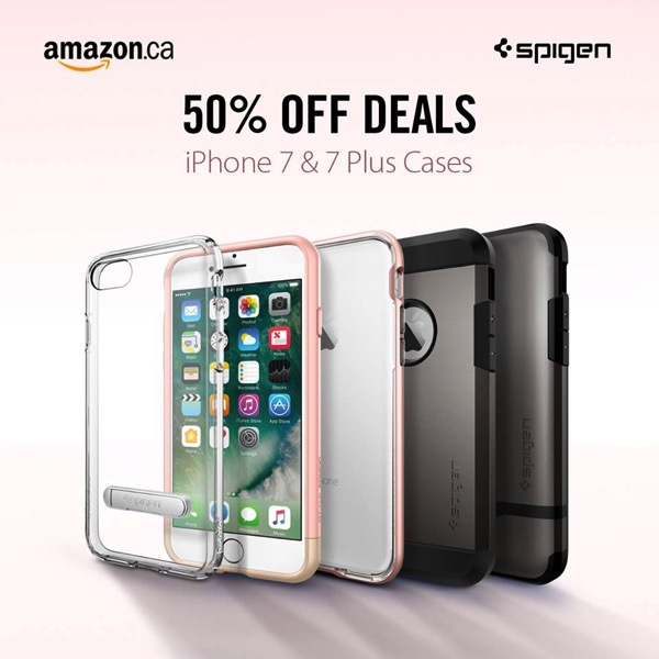 separation shoes b4dd7 cc06b Spigen iPhone 7/7 Plus Cases on Sale for 50% Off on Amazon Canada ...