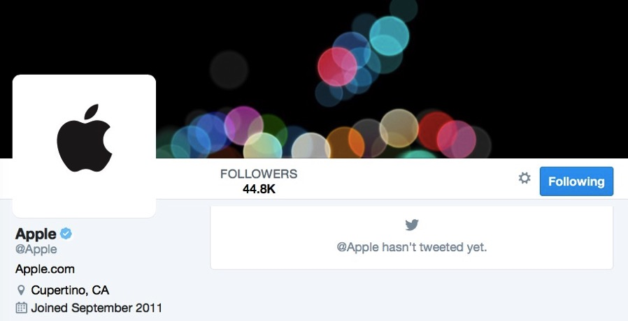 Apple twitter official