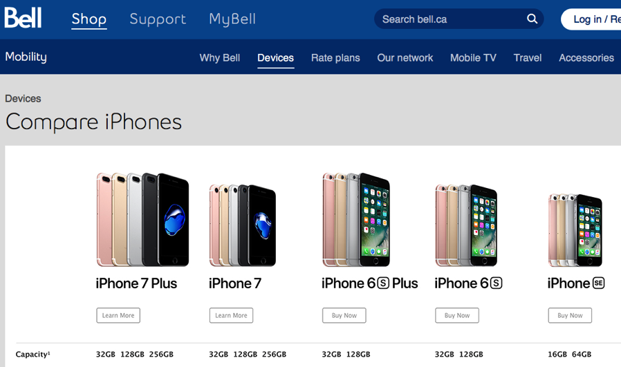 Bell iPhone 7, iPhone 7 Plus Pre-Orders Start at 12:01AM PST, Sept. 9 | iPhone in Canada Blog