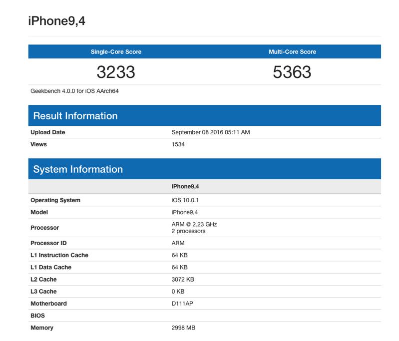Iphone 7 plus geekbench