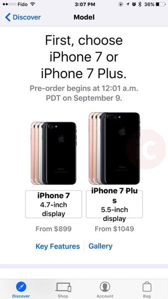 Iphone 7 pre order