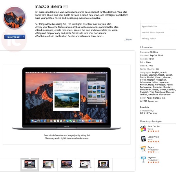 Macos sierra download