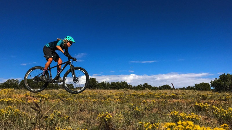 Mountain biker catches air iphone 7