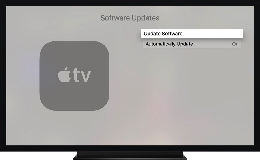 Apple tv 4gen settings general update software