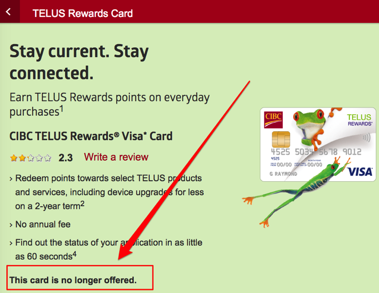 Telus rewards visa cibc