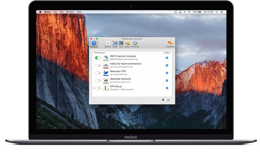 MacBook desktop profiles