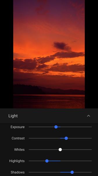 Sunset light sliders width 750 width 576