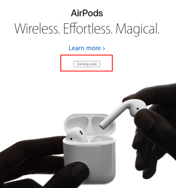 apple website says airpods coming soon reseller claims. Black Bedroom Furniture Sets. Home Design Ideas