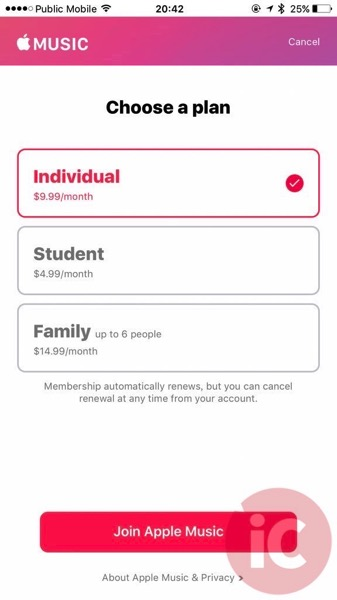 Apple music student plan