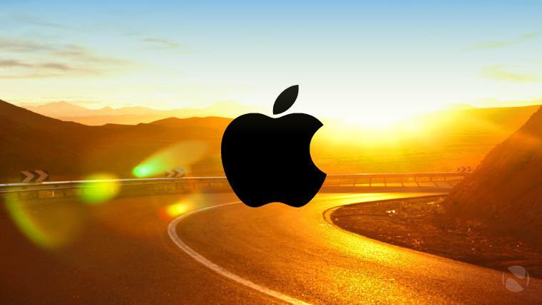 apple on road