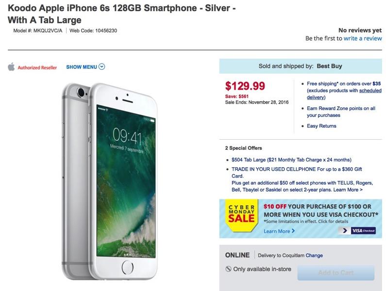 Iphone 6s best buy koodo