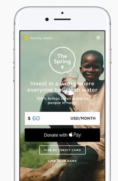 Donate with apple pay charity water 1
