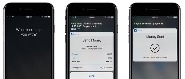PayPal for iOS Updated to Let Siri Send Money for You in