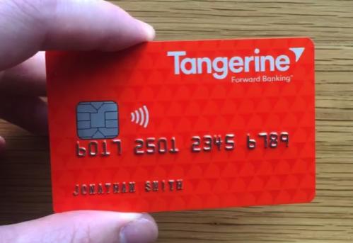 Tangerine debit card