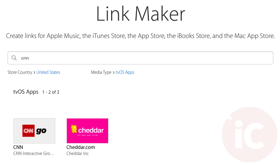 Tvos apps linkmaker