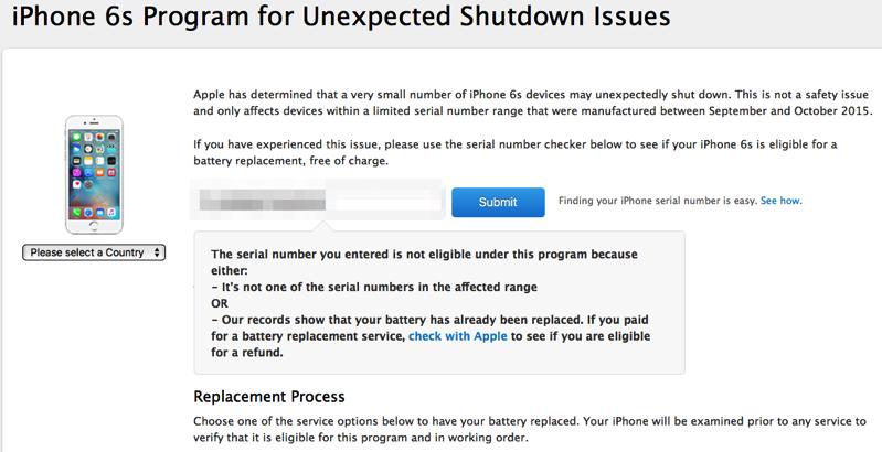 Iphone 6s program shutdown issues