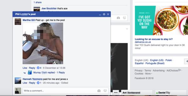 Facebook comment chat