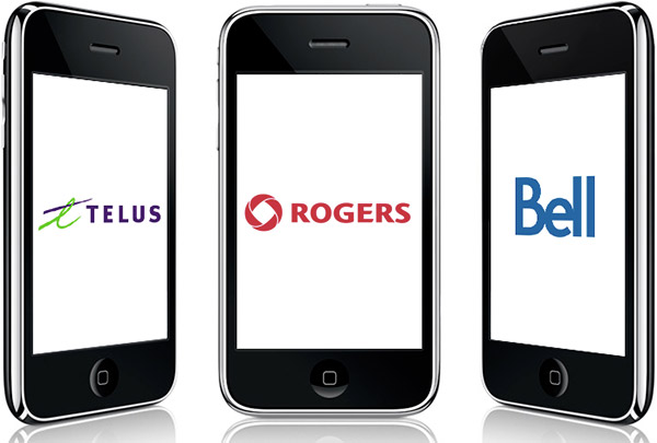 Rogers Bell Telus iPhone