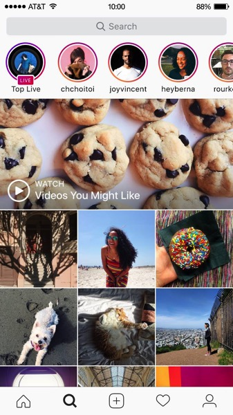 Instagram stories live