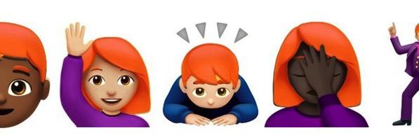 Red head emoji