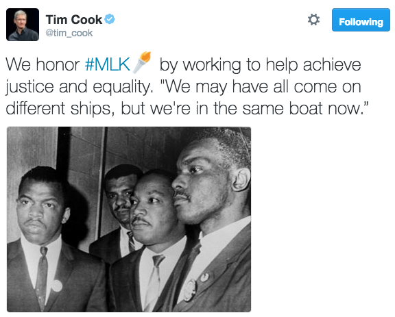 Tim cook martin luther king