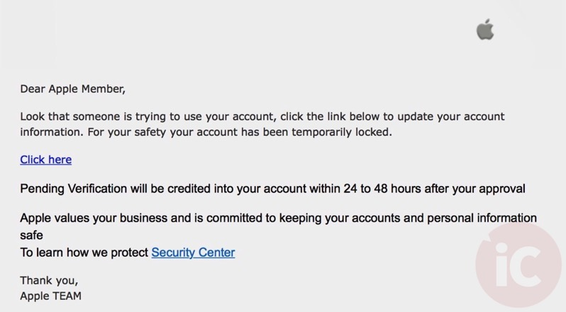 Apple phishing 2