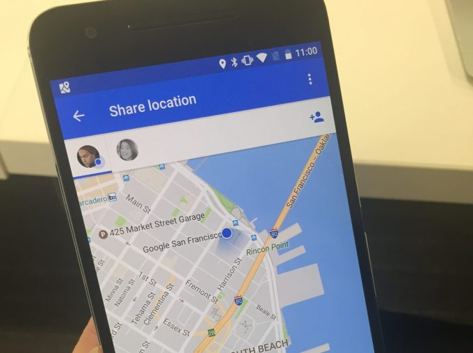 Google maps sharing