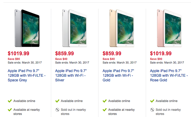 Best Buy Sale Has 9 7 Ipad Pro For Up To 90 Off Iphone In Canada Blog
