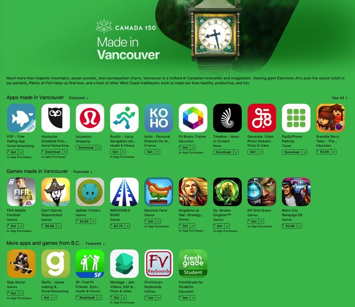 Vancouver app store