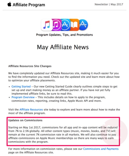 Itunes affiliate commissions
