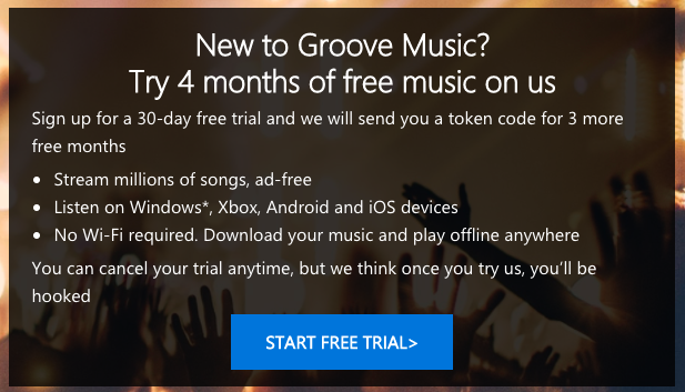 music download free trial