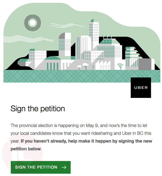 Uber petition bc