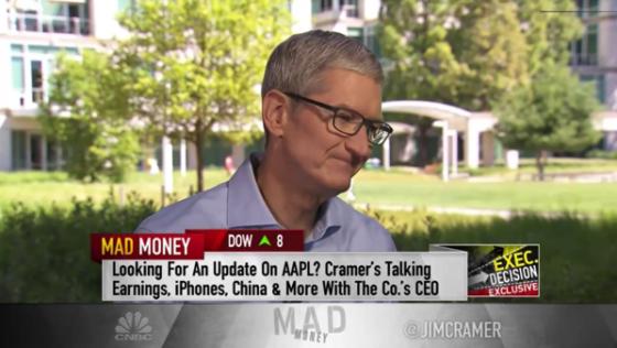 Watch Tim Cook?s Jim Cramer CNBC Interview, Plus Transcript