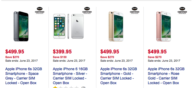 Certified Open Box Iphone 7 Iphone 6 6s Sale At Best Buy Offers Up To 270 Off Iphone In Canada Blog