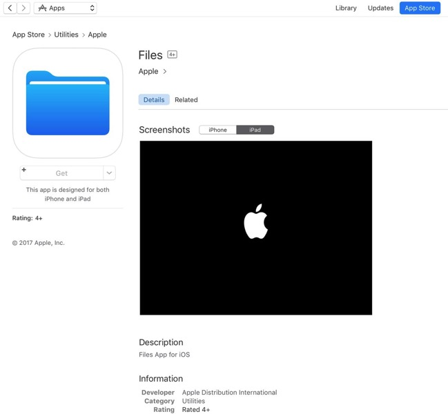 Files ios app