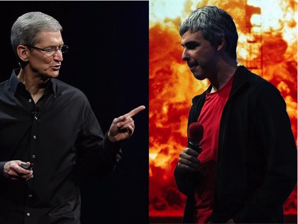 Larry page and tim cook 1 1