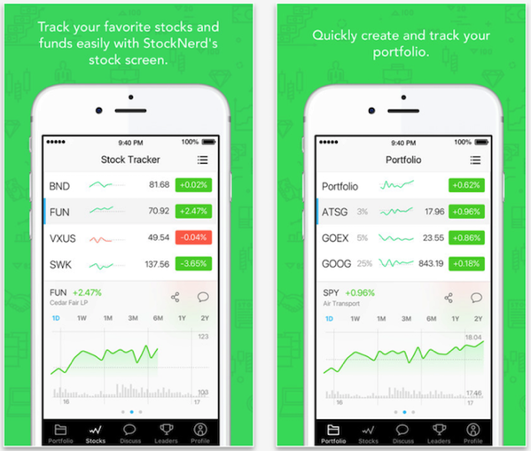 stocknerd for ios offers free stock and portfolio tracking iphone