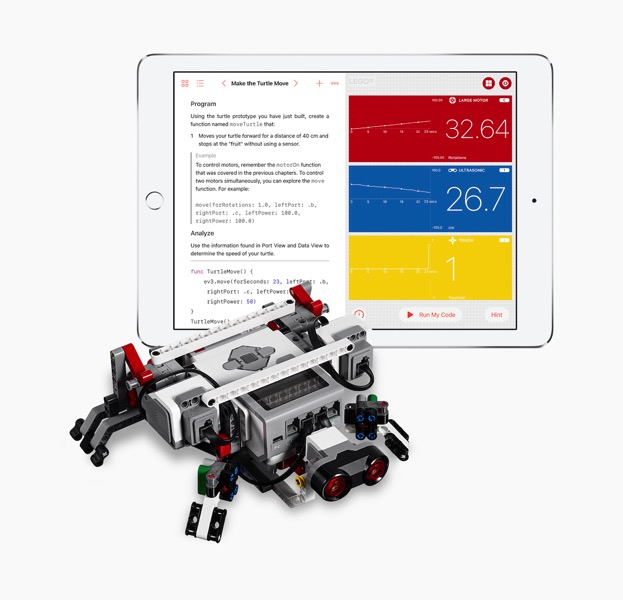 Swift playgrounds ipad lego ev3 mindstorm