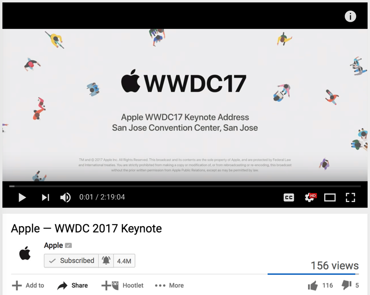 Wwdc 2017 keynote replay youtube