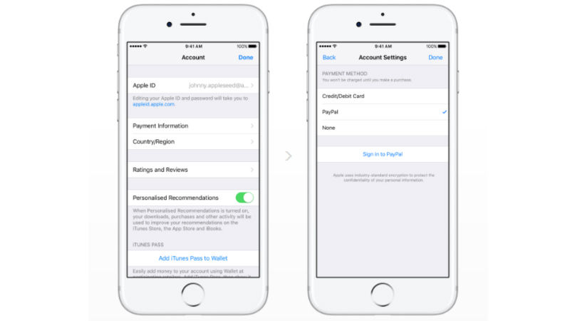 Apple Adds PayPal Payment Option to iOS Devices | iPhone in