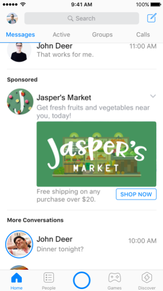 Jaspers messenger ad 1