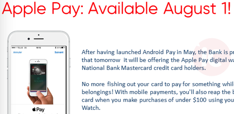National bank apple pay