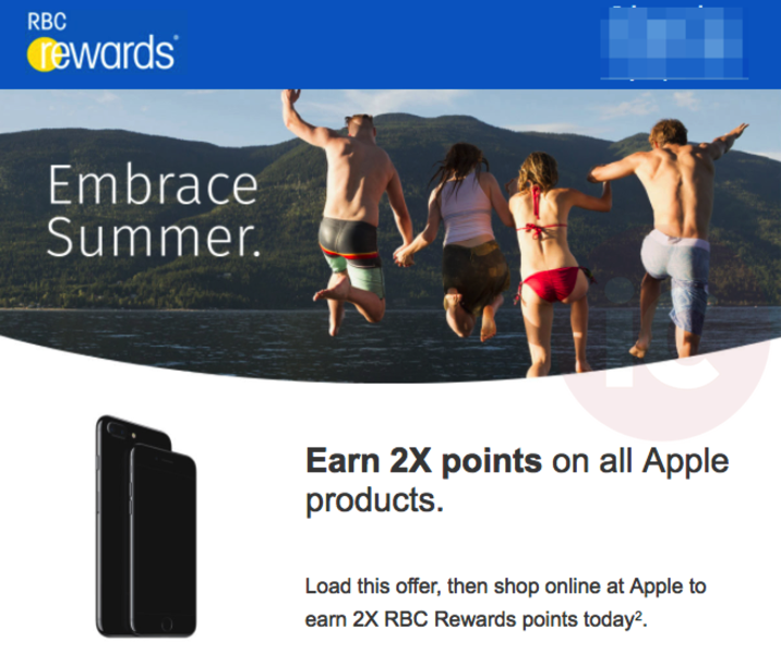 Rbc rewards apple 2x